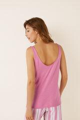 Womensecret Camisola alças detalhe folho rosa