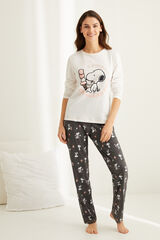 Womensecret Pijama manga comprida Snoopy branco
