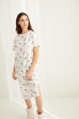 Womensecret Camisa de dormir midi estampado Snoopy  cinzento
