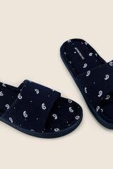 Womensecret Zapatillas casa abiertas azul