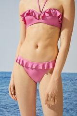 Womensecret Braga bikini clásica rosa volantes rosa
