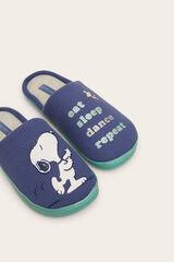 Womensecret Zapatillas casa Snoopy texto azul