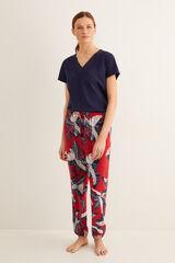 Womensecret Pantalón pijama largo estampado estampado
