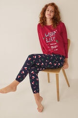 "Womensecret Pijama largo ""Wish list"" rojo"