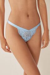 Womensecret Braguita brasileña encaje azul