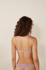Womensecret Sujetador triangular encaje y tiras rosa