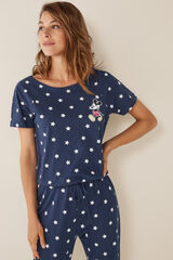Womensecret Mono largo Mickey estrellas azul