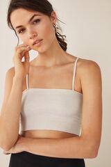 Womensecret Top algodão efeito shinny beige