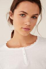 Womensecret Camiseta cuello panadero beige