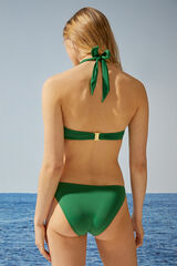 Womensecret Top bikini push up anilla verde
