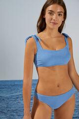 Womensecret Braga bikini efecto esponjoso azul
