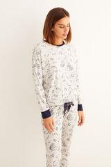 Womensecret Pijama largo algodón Harry Potter gris azul