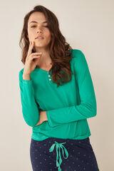 Womensecret Camiseta cuello panadero verde