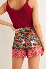 Womensecret Pantalón corto Snoopy marrón