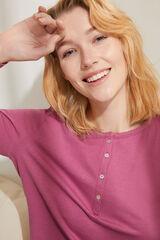 Womensecret Camiseta manga larga algodón rosa