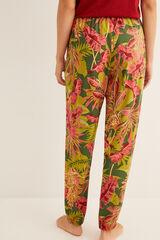Womensecret Pantalón largo estampado verde
