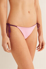 Womensecret Braga bikini reversible pompones rosa