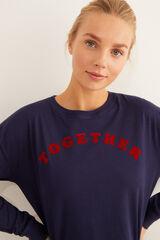 Womensecret Camiseta manga larga Better Together navy azul