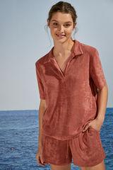 Womensecret Pijama corto camisero comfy rojo