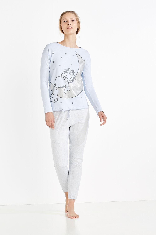 621ea28773 Womensecret Pijama largo de Garfield azul