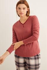 Womensecret Camiseta roja panadera  rosa