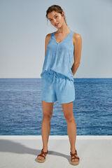 Womensecret Pijama corto tirantes azul comfy azul