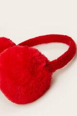Womensecret Proteções de orelhas de pelo  vermelho