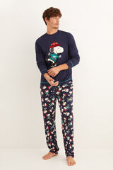 Womensecret Pijama comprido inverno Snoopy navy azul