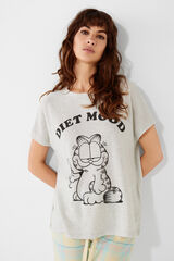 Womensecret Camiseta Garfield 'Diet Mood' gris