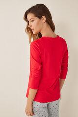 Womensecret Camiseta cuello panadero rojo