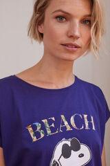 Womensecret Camiseta Snoopy azul