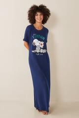 Womensecret Camisón largo Snoopy azul