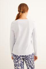 Womensecret Camiseta panadera azul manga larga azul