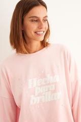 Womensecret Pijama comprido veludo rosa
