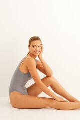 Womensecret Body cinzento textura riscas cinzento