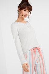 Womensecret Camiseta panadera manga larga gris