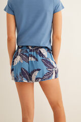 Womensecret Pantalón corto estampado azul