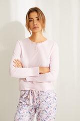 Womensecret Camisola manga comprida algodão rosa rosa