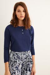 Womensecret T-shirt padeira manga comprida azul