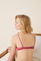 Womensecret Sujetador triangular plumetti sin aros rojo