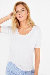 Womensecret Camiseta lisa punto gris