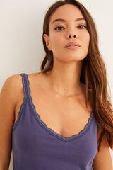 Womensecret Pijama corto estampado 'patch' azul