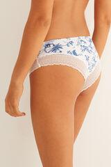 Womensecret Braguita culotte brasileña blanca encaje blanco
