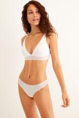 Womensecret Sujetador triangular halter algodón orgánico blanco blanco