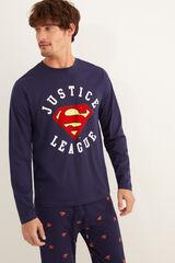 Womensecret Pijama comprido homem Liga da Justiça cinzento