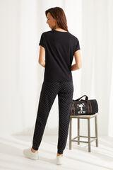 Womensecret Pijama 100% algodón Snoopy navy negro