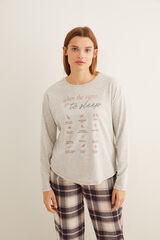 Womensecret Camiseta gris panadera 'sleep' gris
