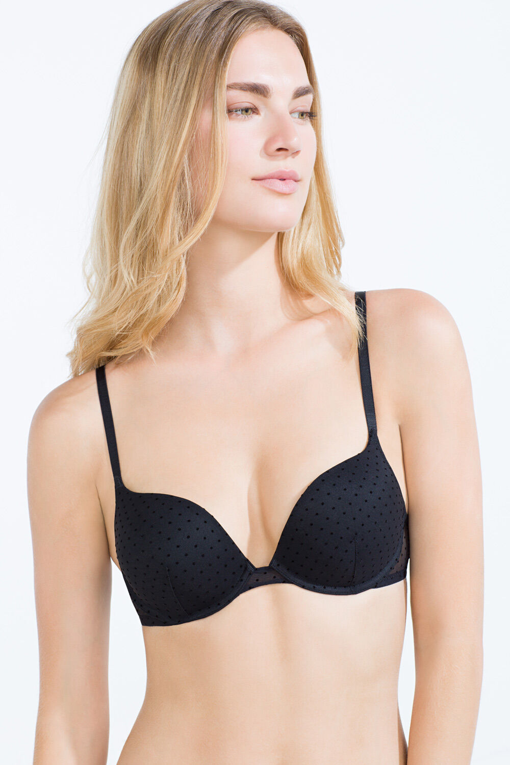 3237c5953 Womensecret Sujetador super push up de tul flocado negro