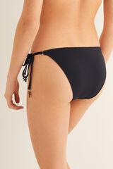 Womensecret Braga bikini detalle abalorios negro