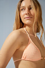 Womensecret Top bikini triangular tejido estructura rosa